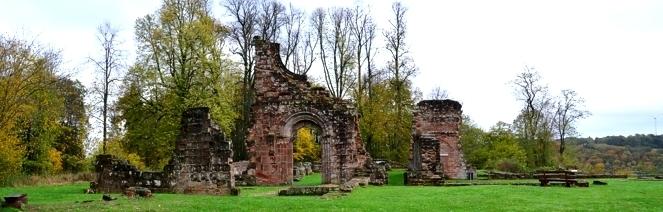 wander kloster ruine wörschweiler