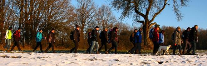 wander gruppe saarland schnee
